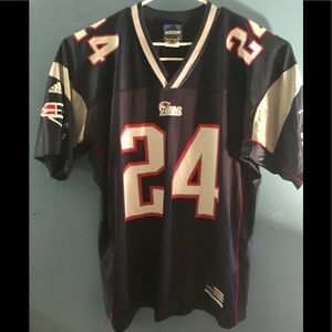 New England Patriots Jersey Law #24 Adidas Large